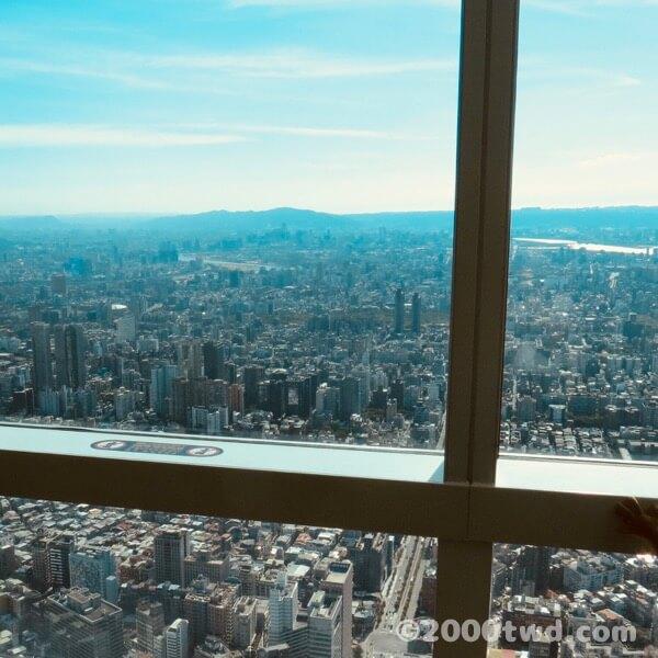 台北101展望台から見た西側の風景