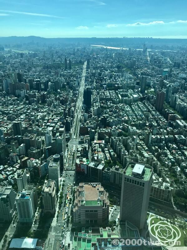 台北101から見た信義路