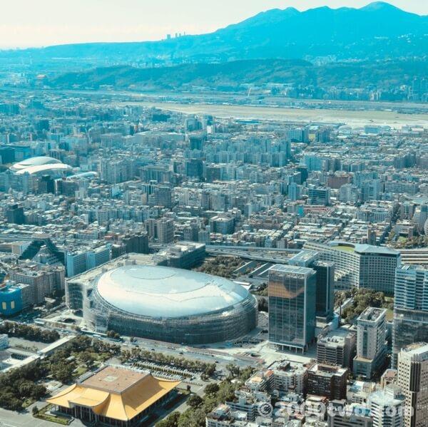 台北101展望台から見た北西側の風景