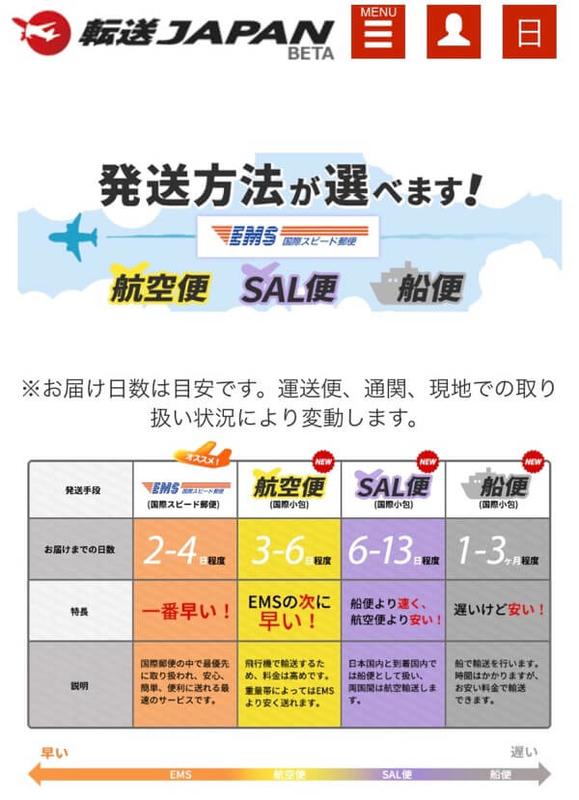 転送JAPANの説明ページ