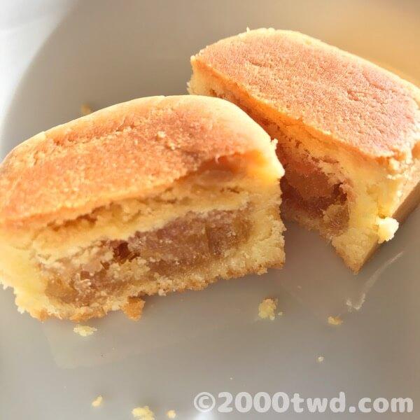佳徳パイナップルケーキの断面