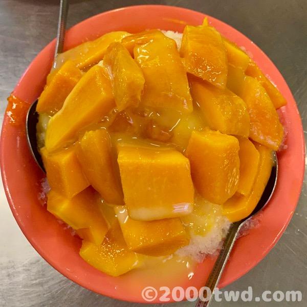 台南のマンゴーかき氷