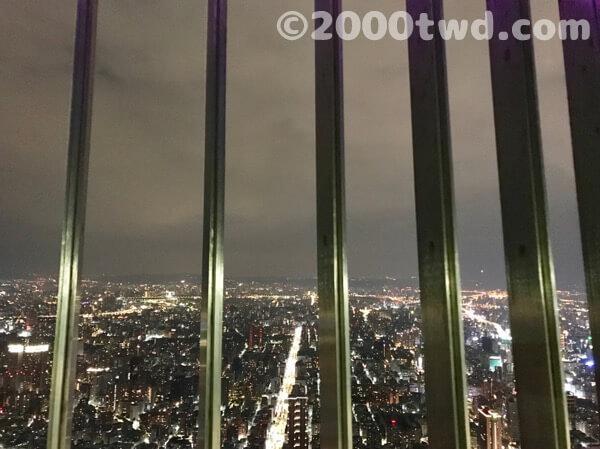 台北101屋外展望台からの夜景