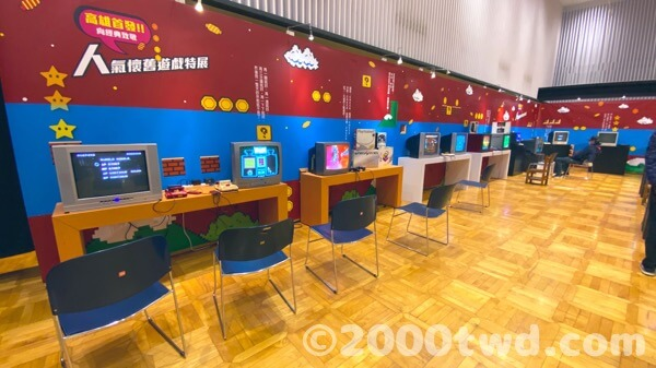 各種ハードのゲーム実機で遊べるコーナー
